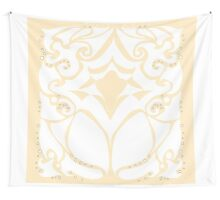 Pattern Series: White Swirl Wall Tapestry
