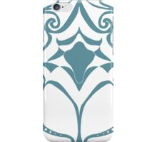 Pattern Series: White and Teal Swirl iPhone Case/Skin