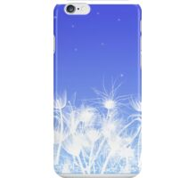 white shadow flowers iPhone Case/Skin