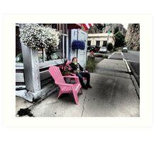 Pink Seats in Historic Creede, Colorado Art Print