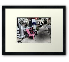 Pink Seats in Historic Creede, Colorado Framed Print
