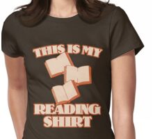 This is my reading shirt Womens Fitted T-Shirt