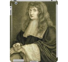 Sir Isaac Newton illustration iPad Case/Skin