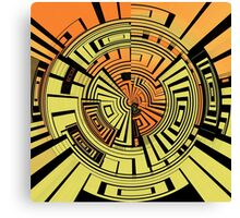 Futuristic technology abstract Canvas Print