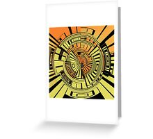 Futuristic technology abstract Greeting Card