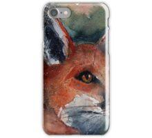 watercolour fox iPhone Case/Skin