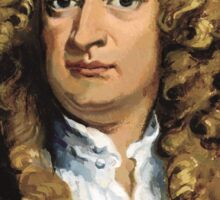 Sir Isaac Newton Painting Sticker