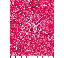 Charlotte map rapsberry Photographic Print