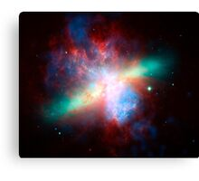 False-colored view of the Messier 82 galaxy. Canvas Print