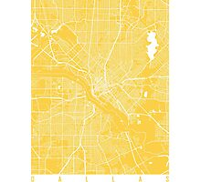 Dallas map yellow Photographic Print