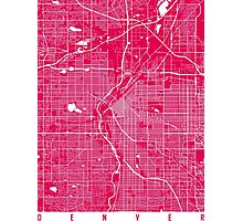 DenverDenver map rapsberry Photographic Print