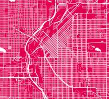 DenverDenver map rapsberry Sticker