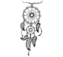 Ethnic dream catcher with feathers Photographic Print