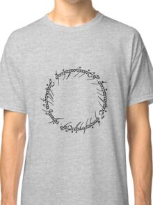 The One Ring Text - Black  Classic T-Shirt