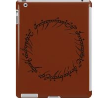 The One Ring Text - Black  iPad Case/Skin
