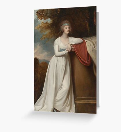 George Romney  Barbara, marchioness of Donegall, ca.  Greeting Card