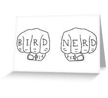 Bird Nerd - Black on White Greeting Card