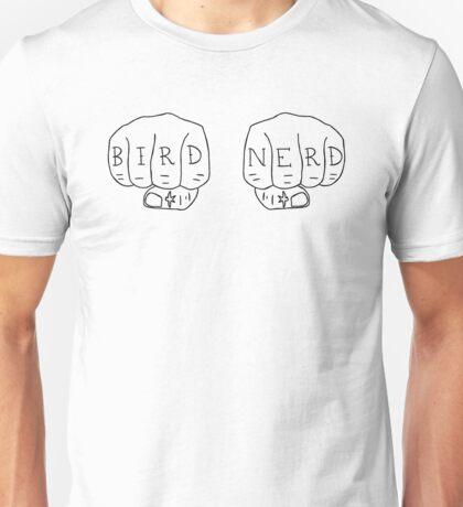 Bird Nerd - Black on White Unisex T-Shirt