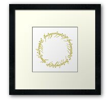 The One Ring Text - Gold Framed Print