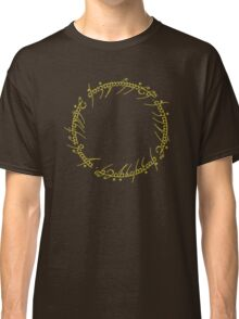 The One Ring Text - Gold Classic T-Shirt