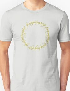 The One Ring Text - Gold Unisex T-Shirt