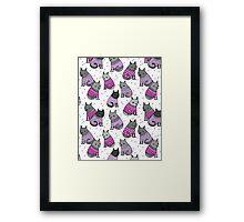 Sweater Cats valentine love cute kitten // pastel pink purple andrea lauren  Framed Print