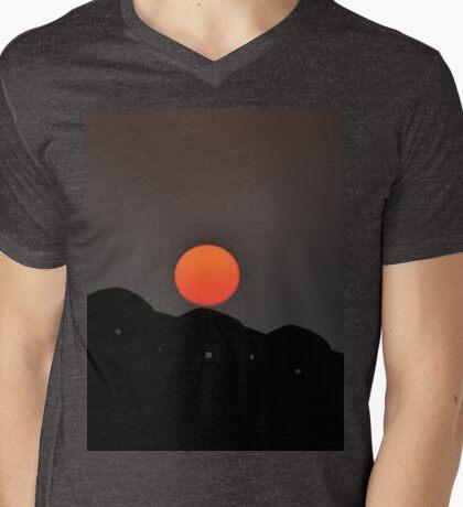 sliding sunrise  Mens V-Neck T-Shirt