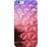 Sunset as Spaceship Earth (Epcot Ball) iPhone Case/Skin