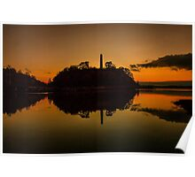 Sunset at Ferrycarrig, Wexford, Ireland Poster