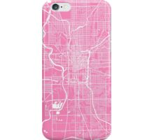 Indianapolis map pink iPhone Case/Skin