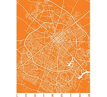 Lexington map orange Photographic Print
