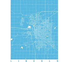 lincoln map blue Photographic Print