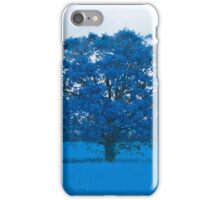 Cold Tree In A Field Of Blue iPhone Case/Skin