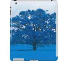 Cold Tree In A Field Of Blue iPad Case/Skin