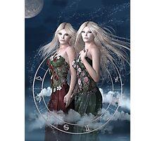 Gemini zodiac fantasy circle Photographic Print