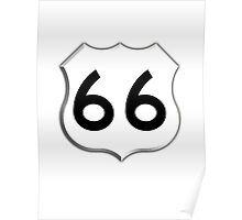 America's, ROUTE 66, Get your Kicks on Route 66, US 66, USA, America, Will Rogers Memorial Highway Poster