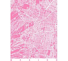 Mexico map pink Photographic Print