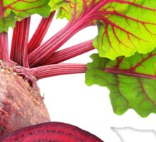 Cut beetroot with leaves Sticker