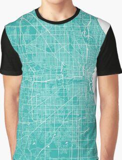 Milwaukee map turquoise Graphic T-Shirt