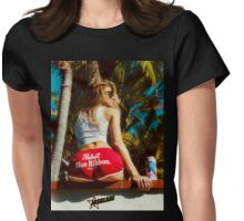 90s Beach Girl ★ Womens Fitted T-Shirt