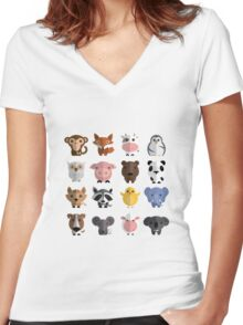 Flat animals Women's Fitted V-Neck T-Shirt
