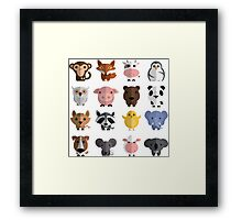 Flat animals Framed Print
