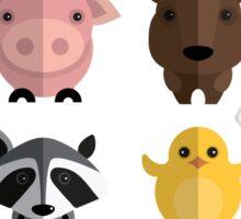 Flat animals Sticker
