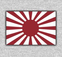 War flag, Imperial Japanese Army, The Rising Sun Flag, Japan, Japanese, WWII One Piece - Short Sleeve