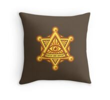 Watch and Report Badge Throw Pillow