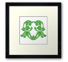 Green Heart Framed Print