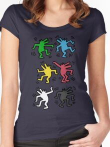 Lets Dance - HARING Women's Fitted Scoop T-Shirt