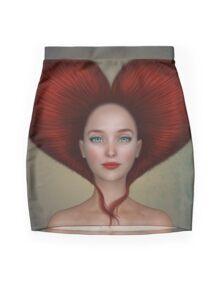 Queen of hearts portrait Mini Skirt