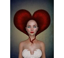 Queen of hearts portrait Photographic Print