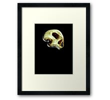SKULL, WITCHCRAFT, WICCA, WIZARD, GOTH, Death Head, Human Skull, Pirate, on BLACK Framed Print
